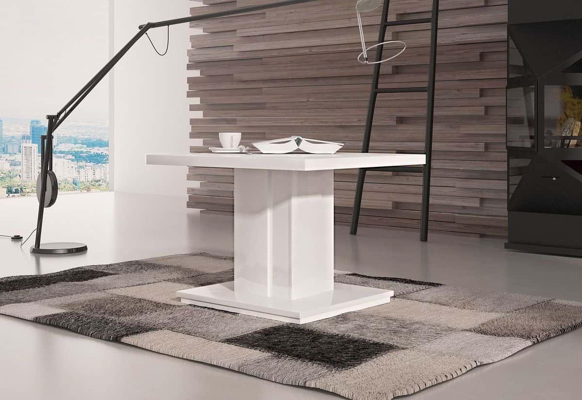 Konferenční stolek HAD, 70x50x70, bílý lesk