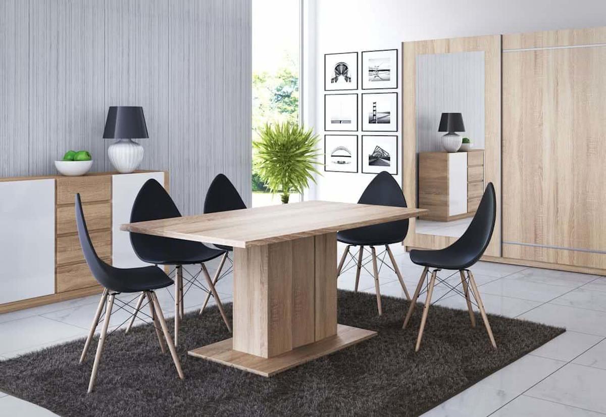 Stůl DENAR, 160x76x90, sonoma