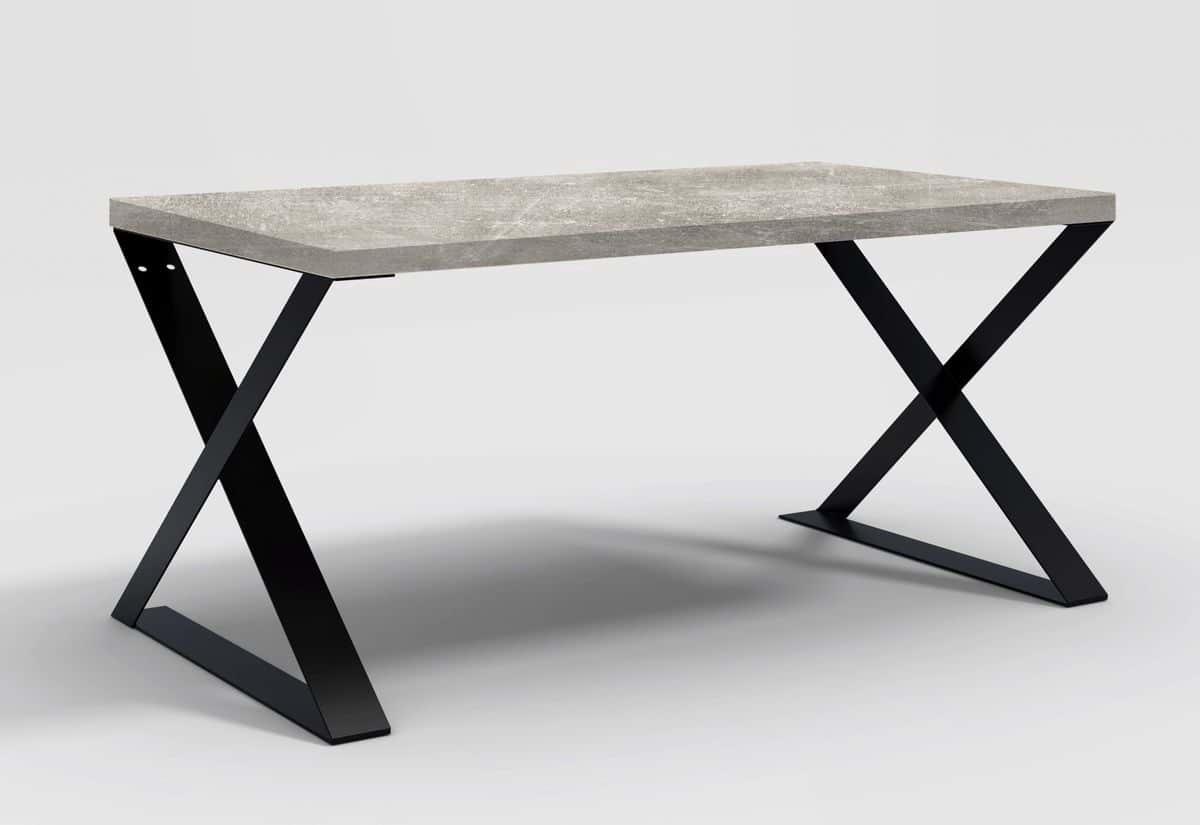 Stůl SAIA X, 160x78x90, beton