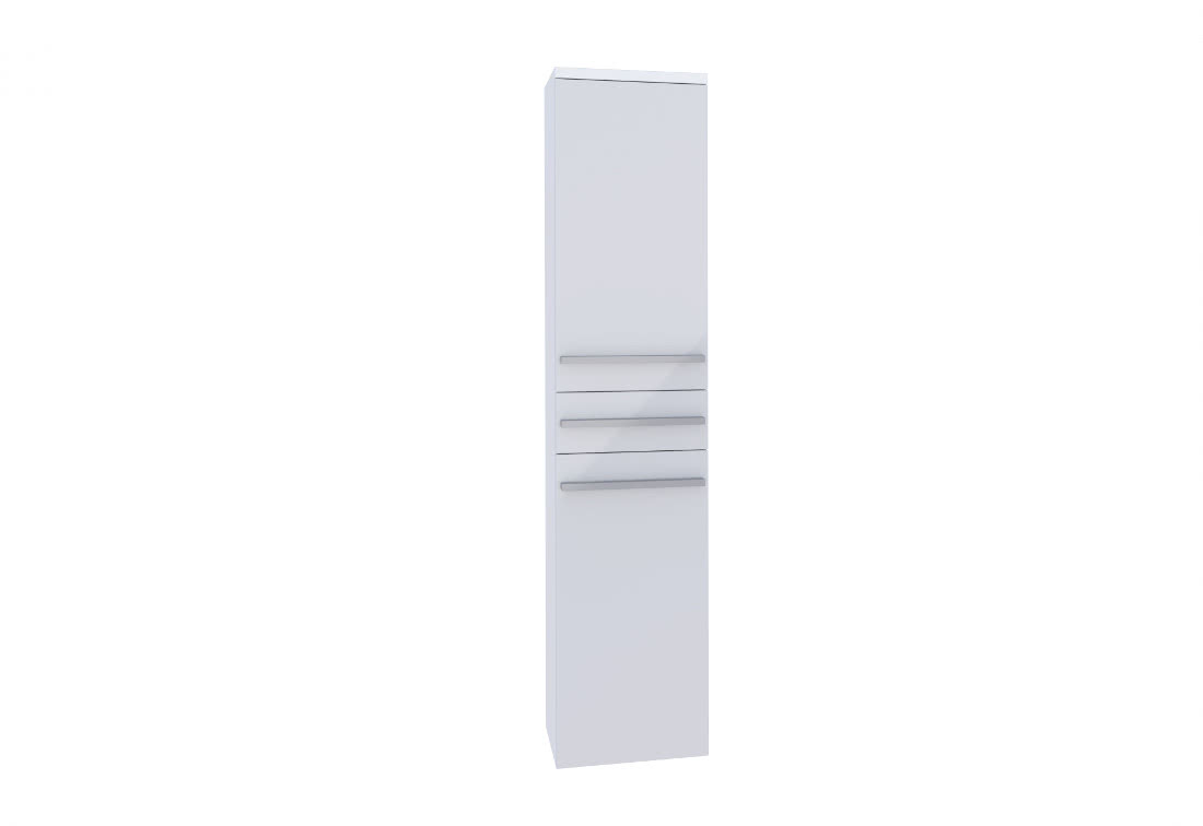 Závěsná koupelnová skříňka KARA, 35x160x35, bílá/bílý lesk