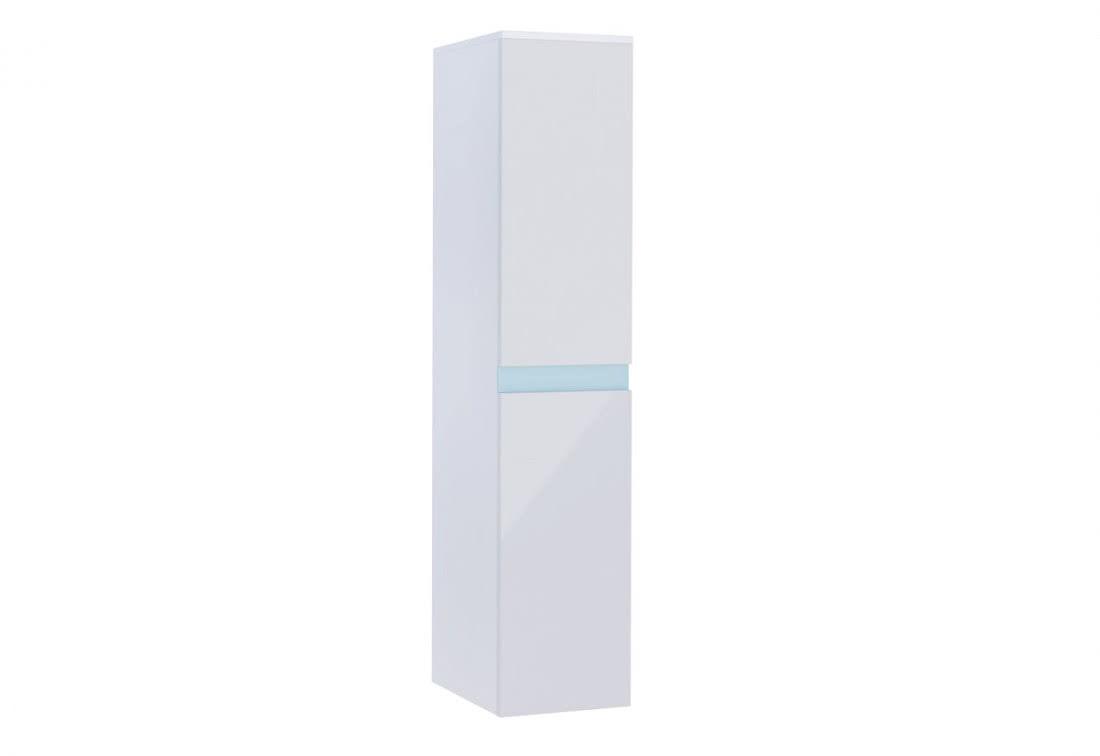 Závěsná koupelnová skříňka SIMBA - TYP 01, 35x160x35, bílá/bílý lesk