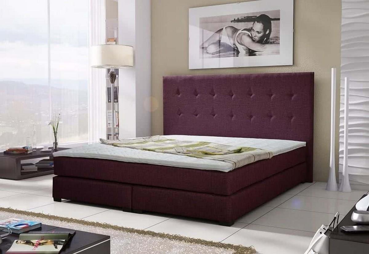 Luxusní postel LOUIS + matrace + rošt, 180x200 cm, sawana 70
