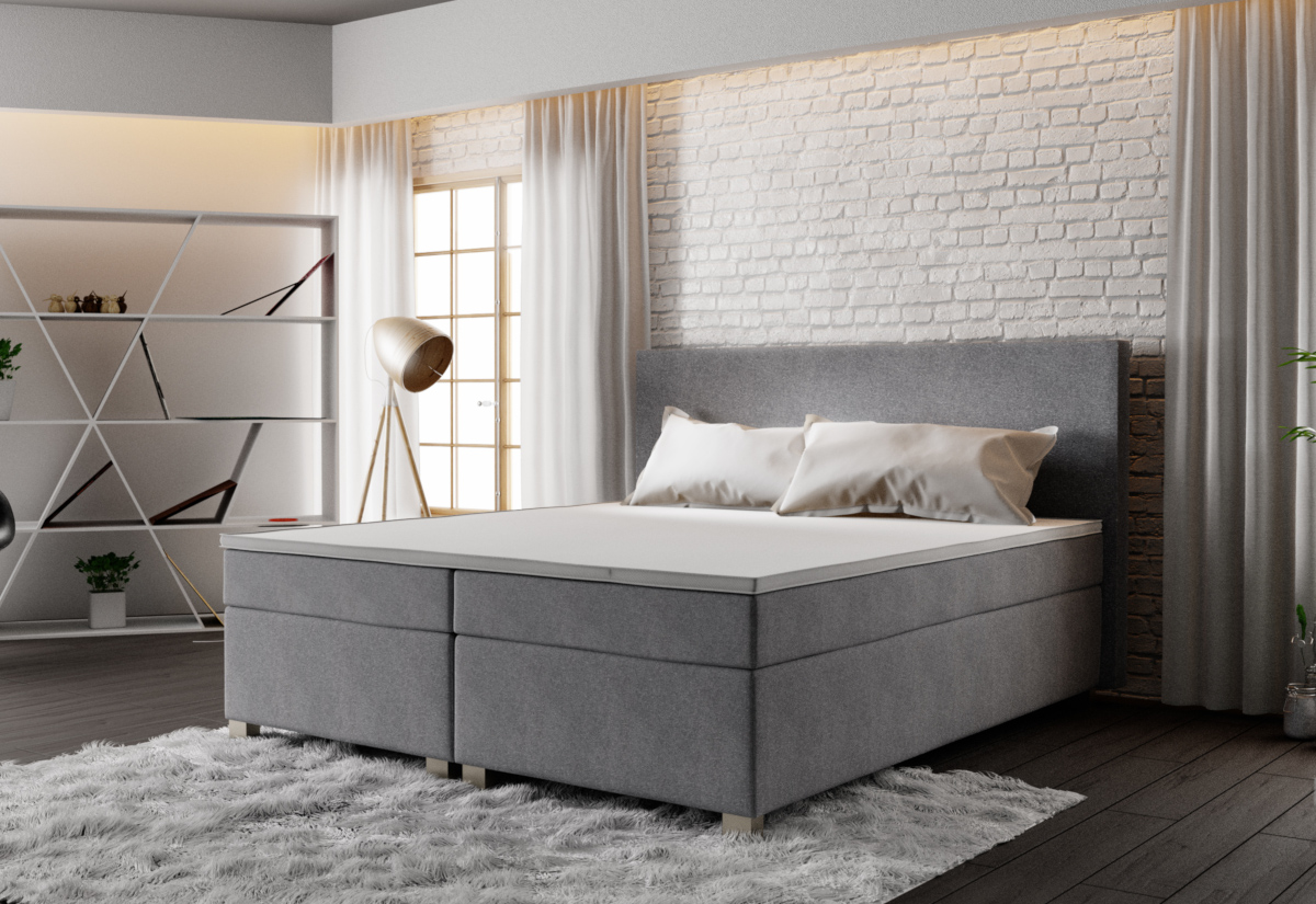 Čalouněná postel ISLAND + rošt + matrace, 140x200, Cosmic 160