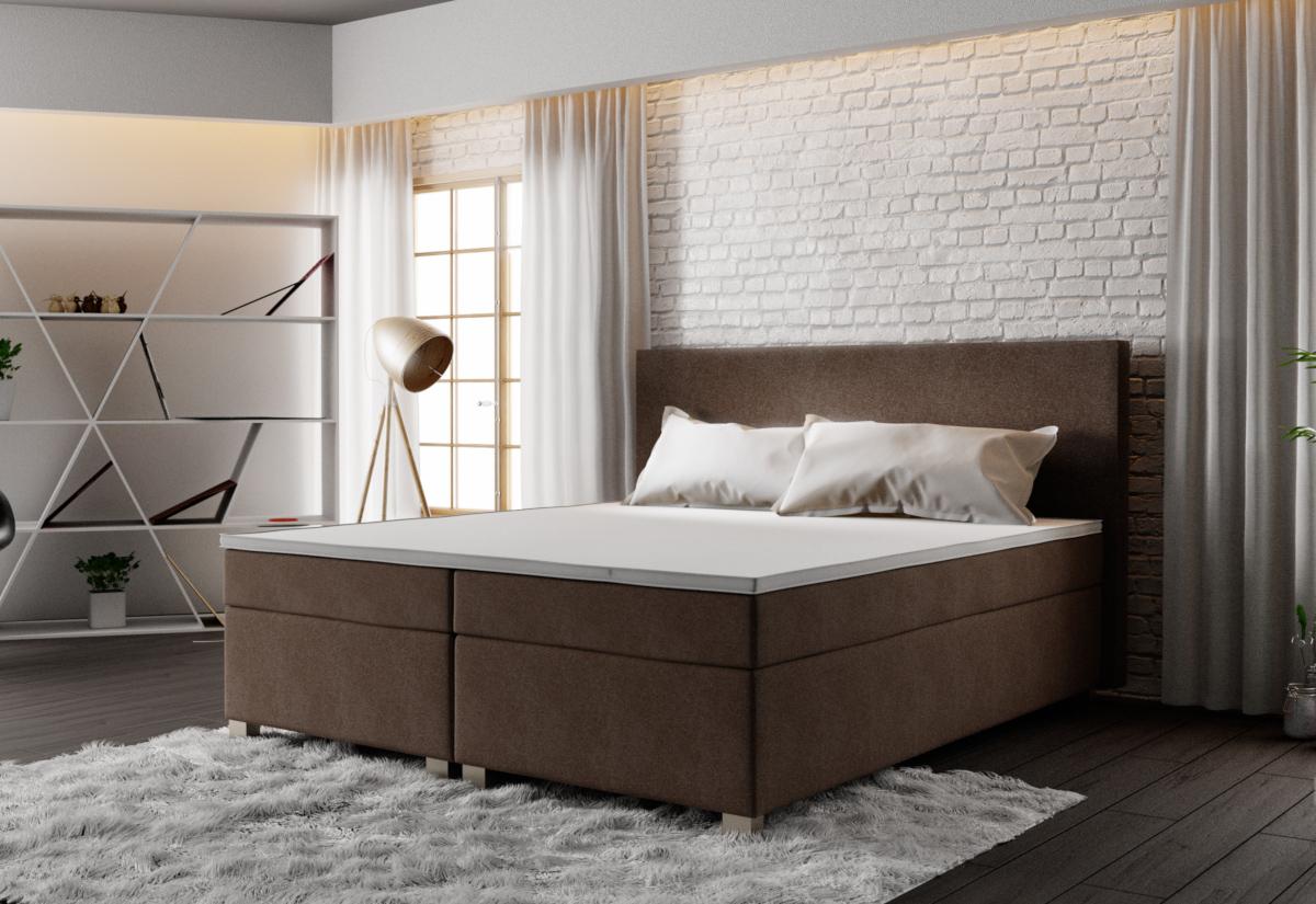 Čalouněná postel ISLAND + rošt + matrace, 140x200, Cosmic 800