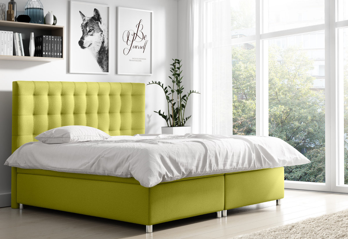 Čalouněná postel NELA + topper, 140x200, endo 7706