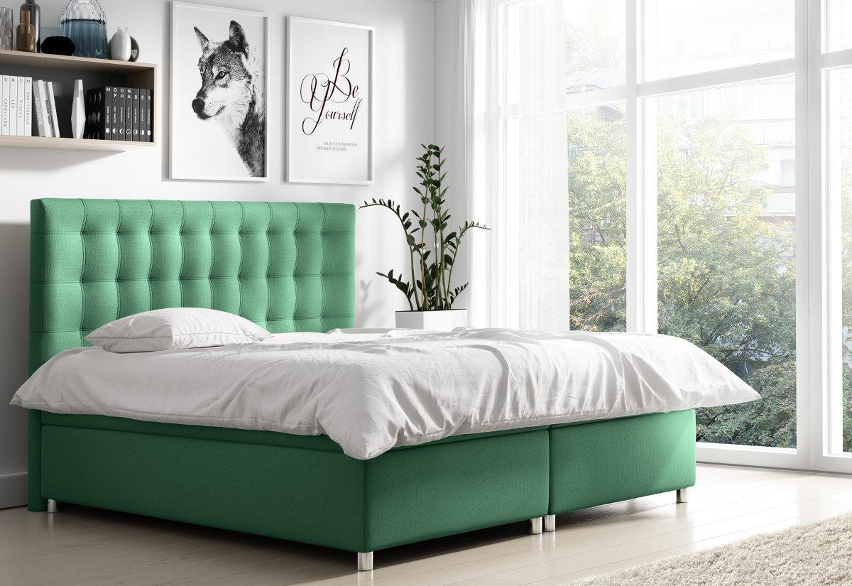 Čalouněná postel NELA + topper, 140x200, endo 7707