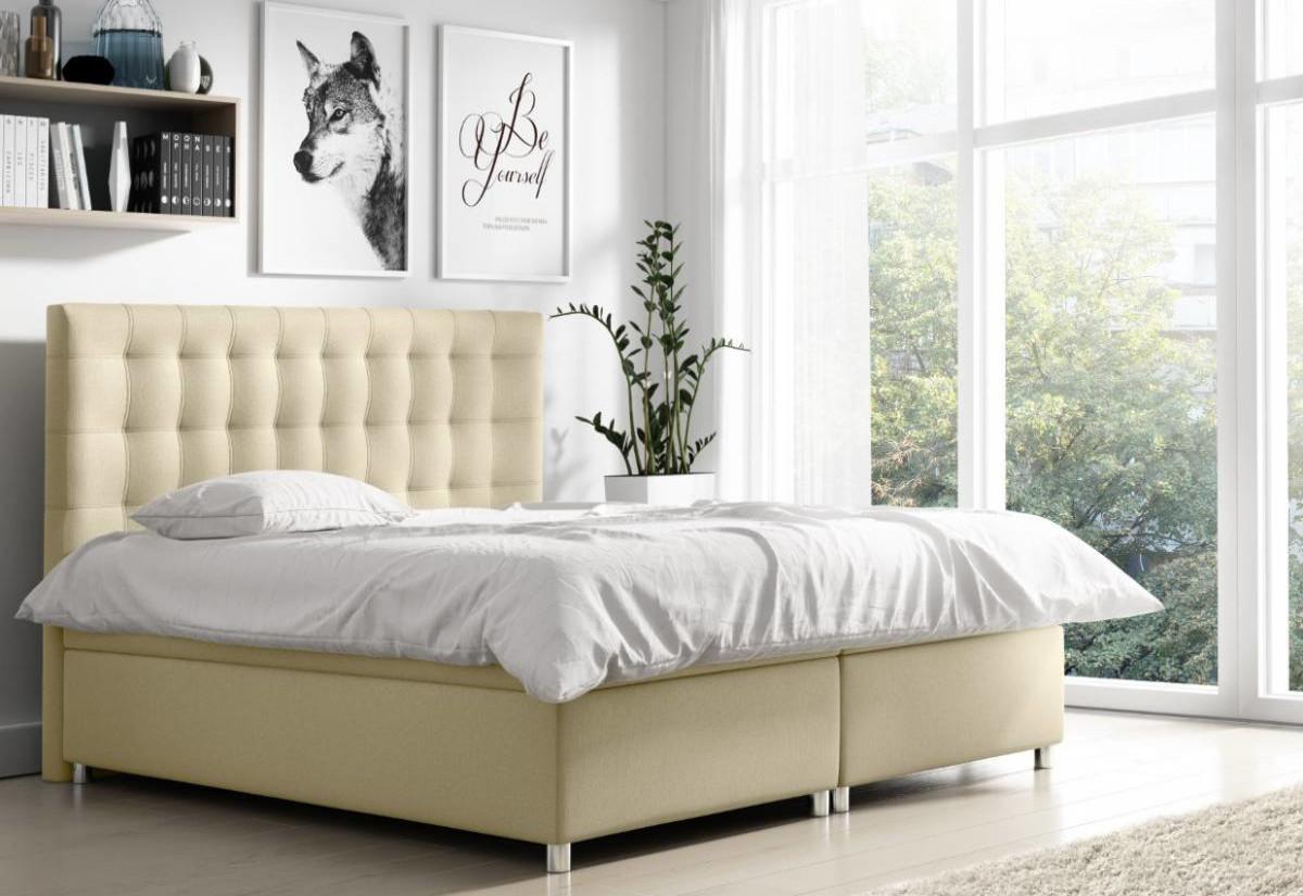 Čalouněná postel NELA + topper, 140x200, endo 7701