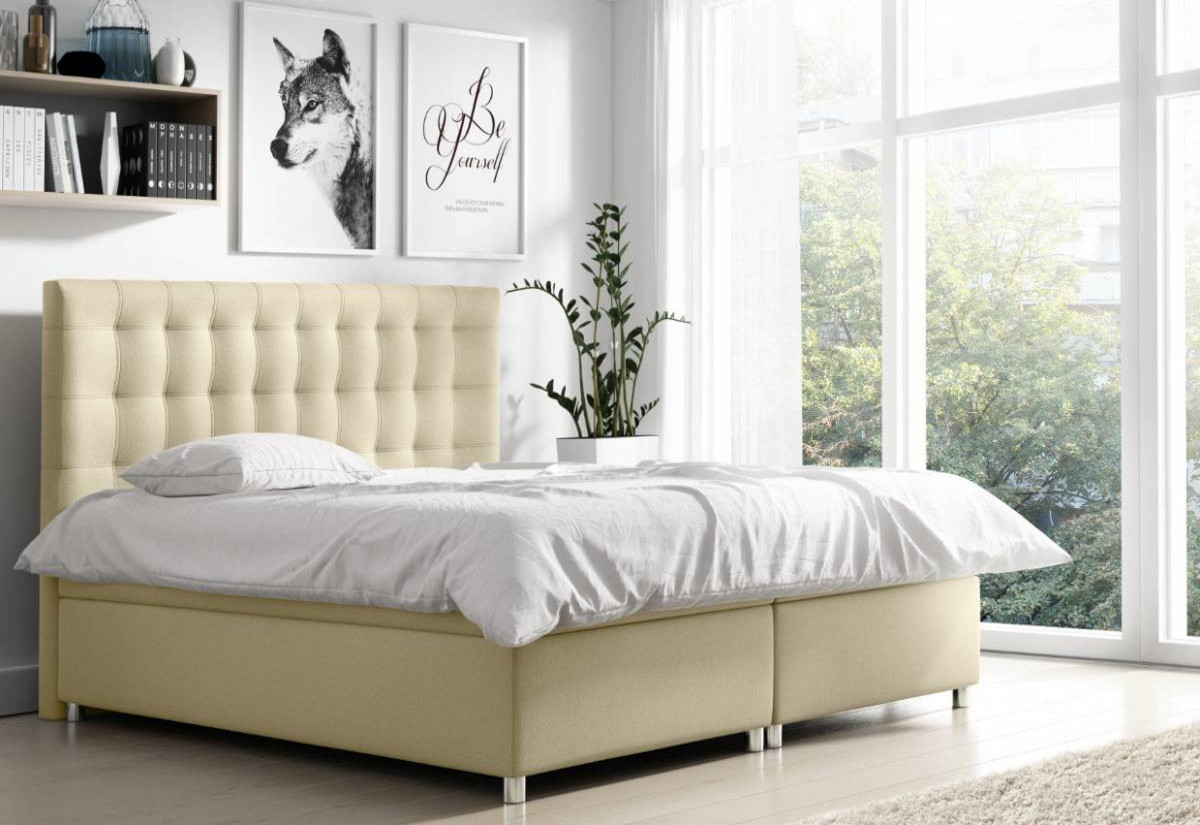 Čalouněná postel NELA + topper, 160x200, endo 7701