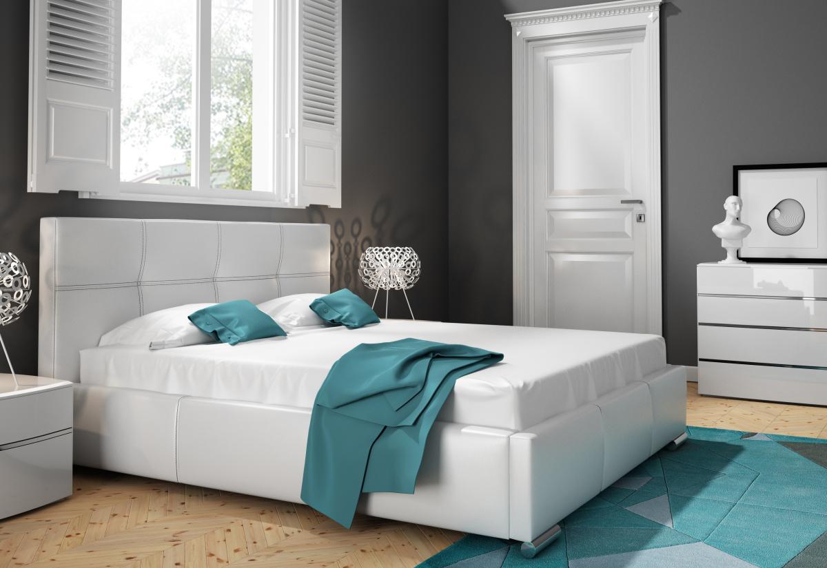 Čalouněná postel BUKY, 120x200, madryt 190