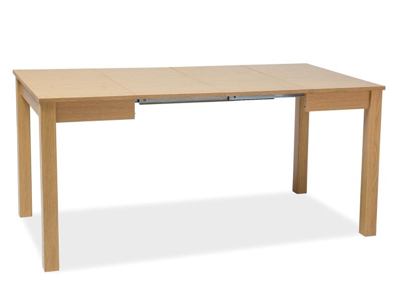 Jídelní stůl EDIE, 75x80x80-120, dub