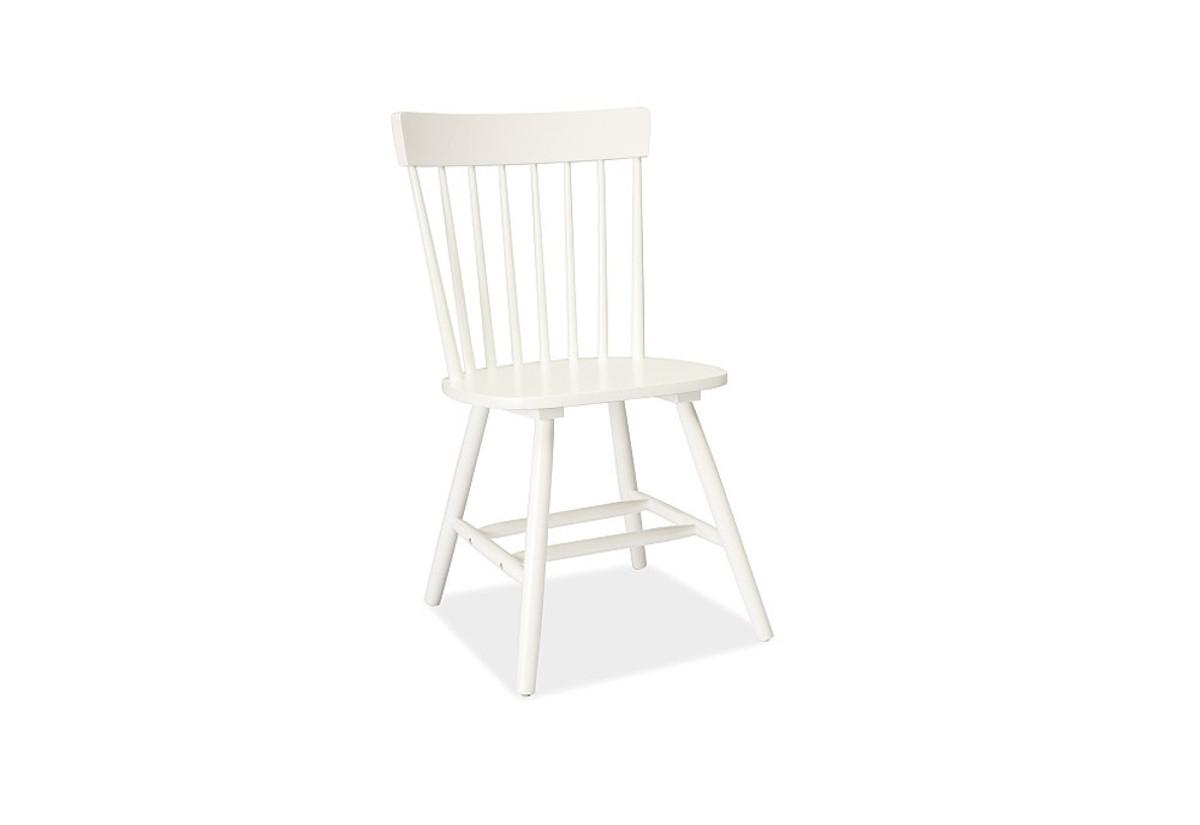 Dřevěná židle ERO, 89x45x40, bílá