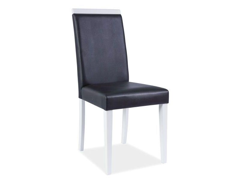 Židle CUTE CD-77, 93x43x40, černá/bílá