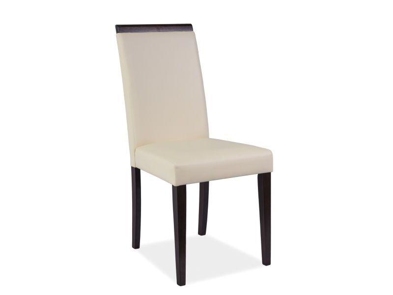 Židle CUTE CD-77, 93x43x40, béžová/venge