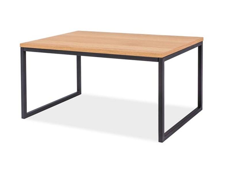 Konferenční stolek GOLA, 45x50x100, dub/černá