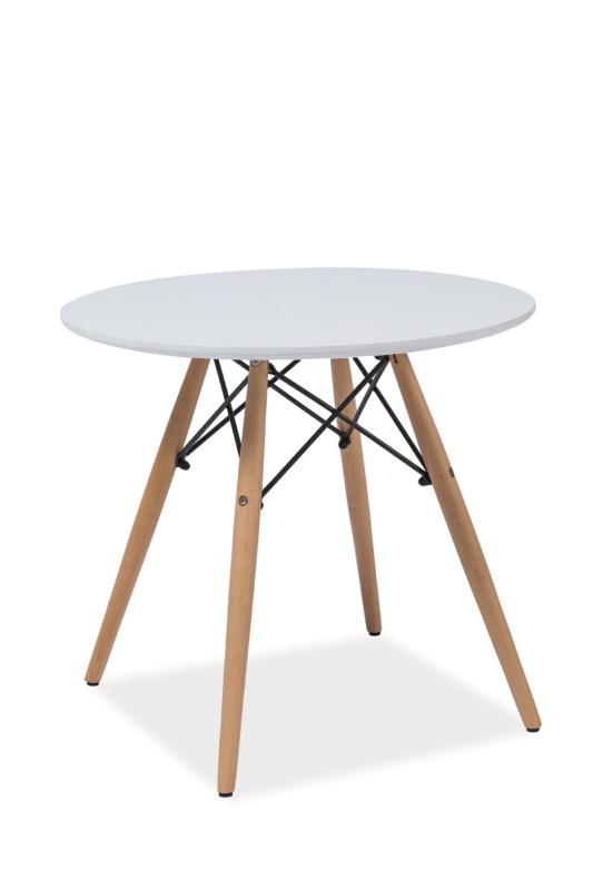 Konferenční stolek HOSA B, 55x60x60, bílá/buk