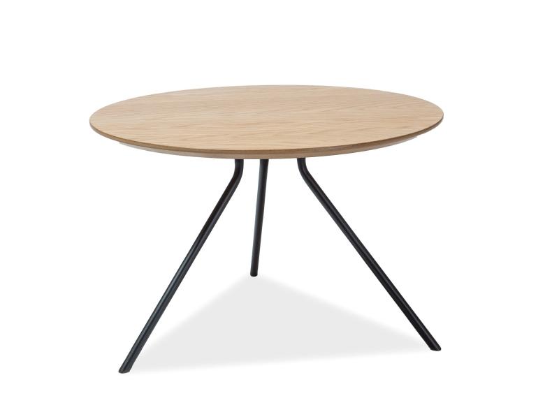 Konferenční stolek AFRICA, 40x60x60, dub/černá