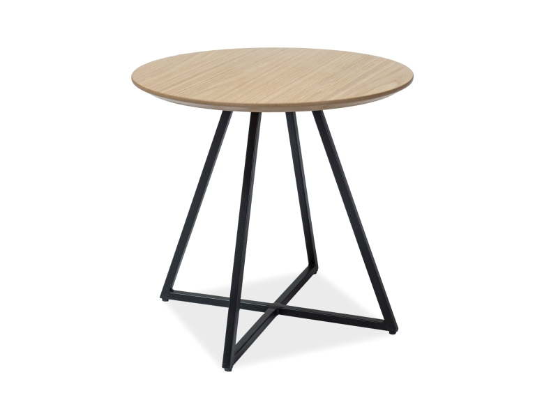 Konferenční stolek VITO, 45x50x50, dub/černá