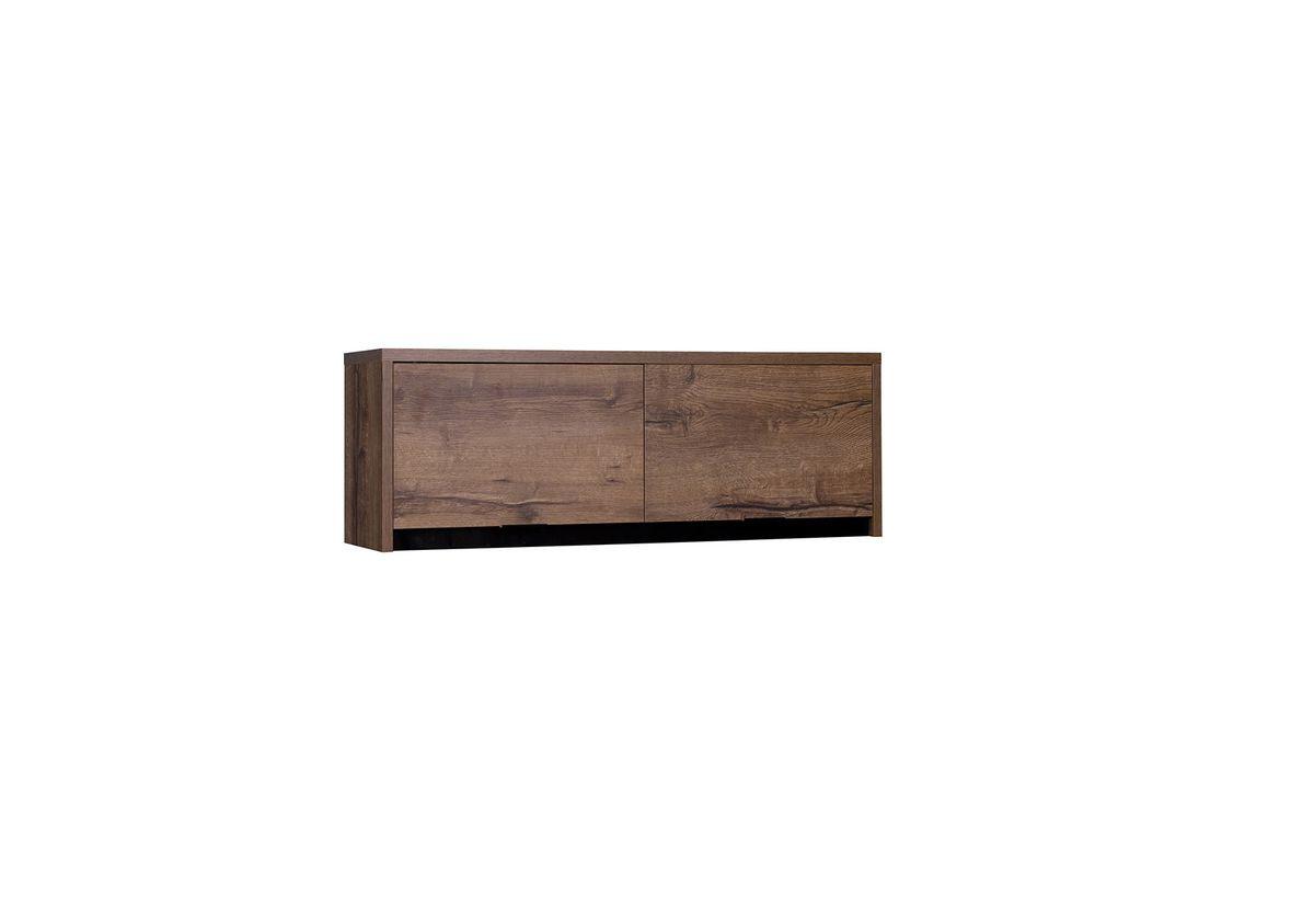 Závěsná skříňka KOLOREDO, 120x32x35, dub Monastery/černá lesk
