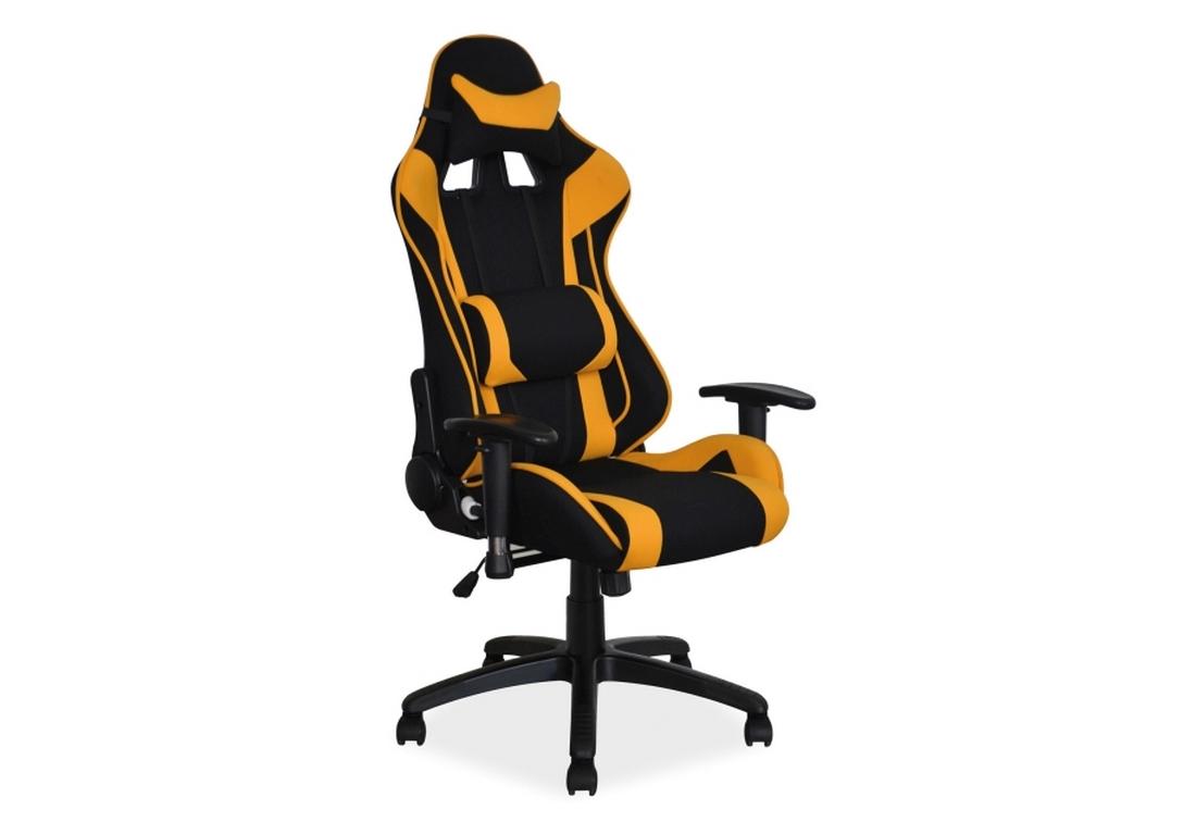 Kancelářská židle DODGE, 127-135x70x49x44-52, černá/žlutá