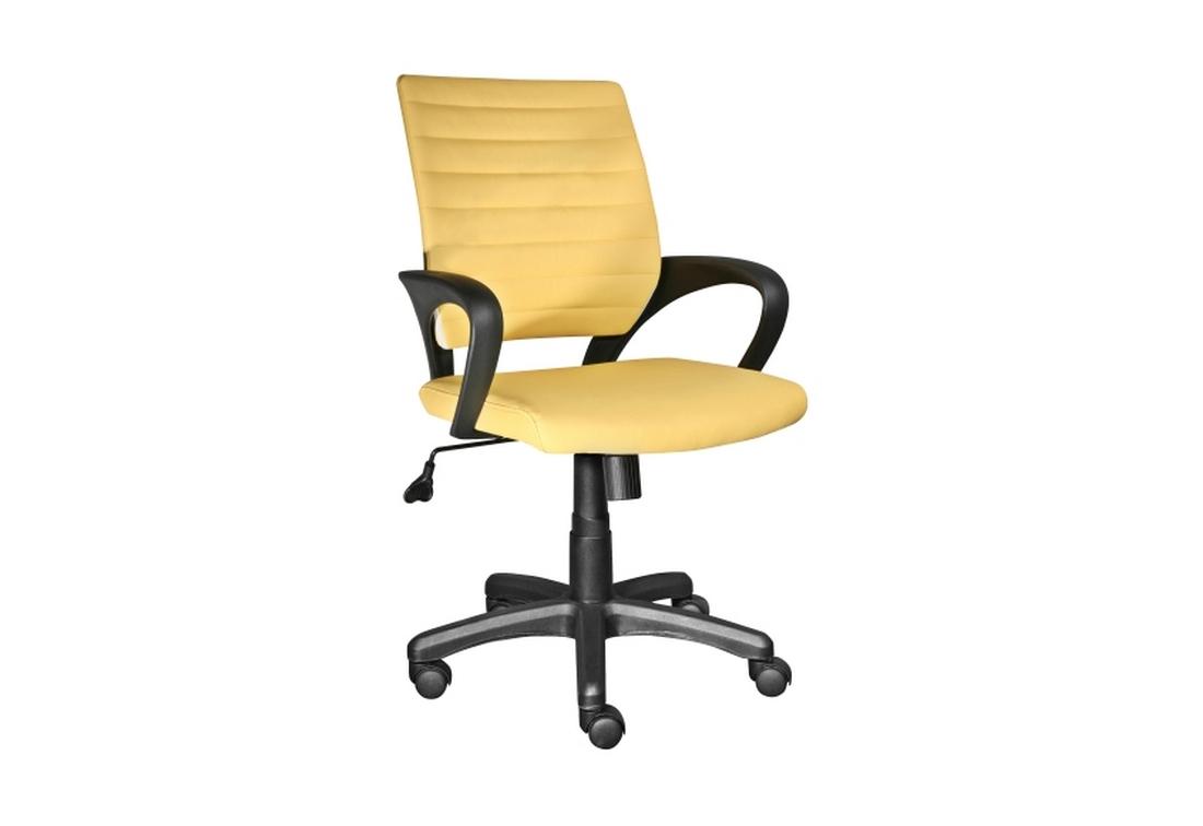 Kancelářská židle KEEP, 86-96x63x50x42-52, žlutá