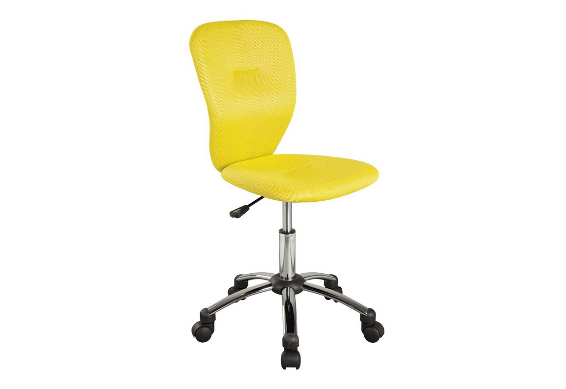 Kancelářská židle COLOR, 83-93x40x40x44-54, žlutá