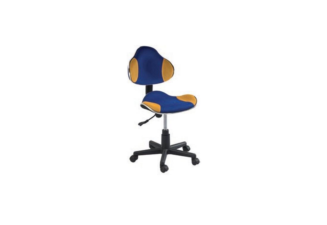 Kancelářská židle PORT, 80-92x48x41x38-50, modrá/žlutá