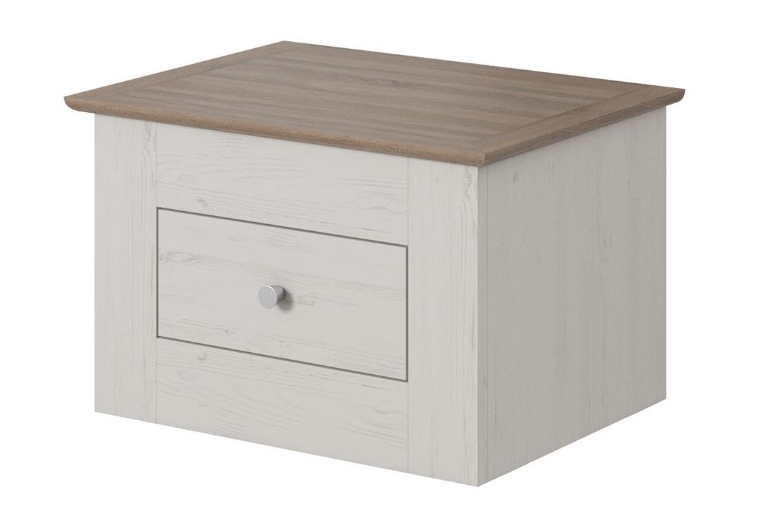 Noční stolek CHANTAL, 60x39x42, borovice andersen/sonoma Truffle