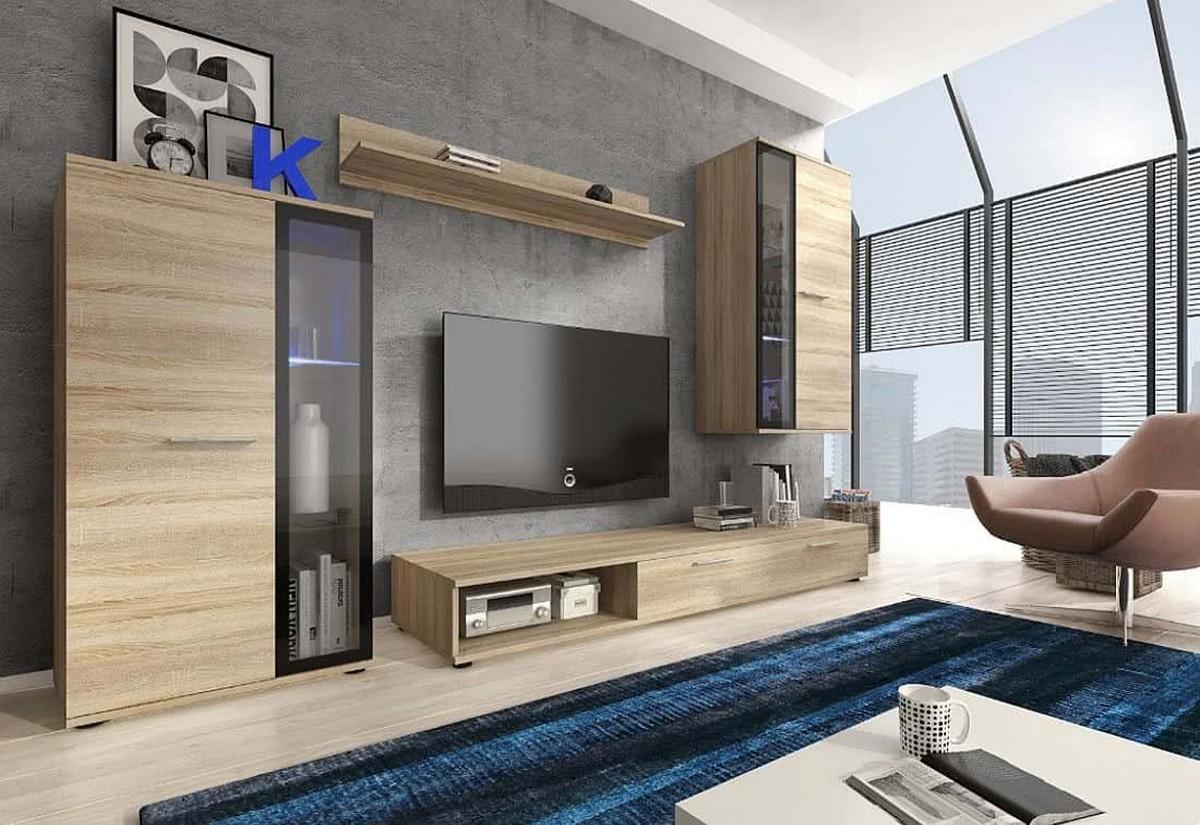 Obývací stěna SONI + LED, dub sonoma