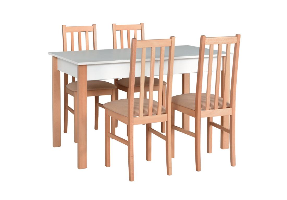 Jídelní sestava BLANC 2, stůl + 4x židle