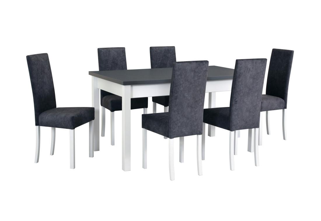 Jídelní sestava LONDRINA 1, stůl + 6x židle