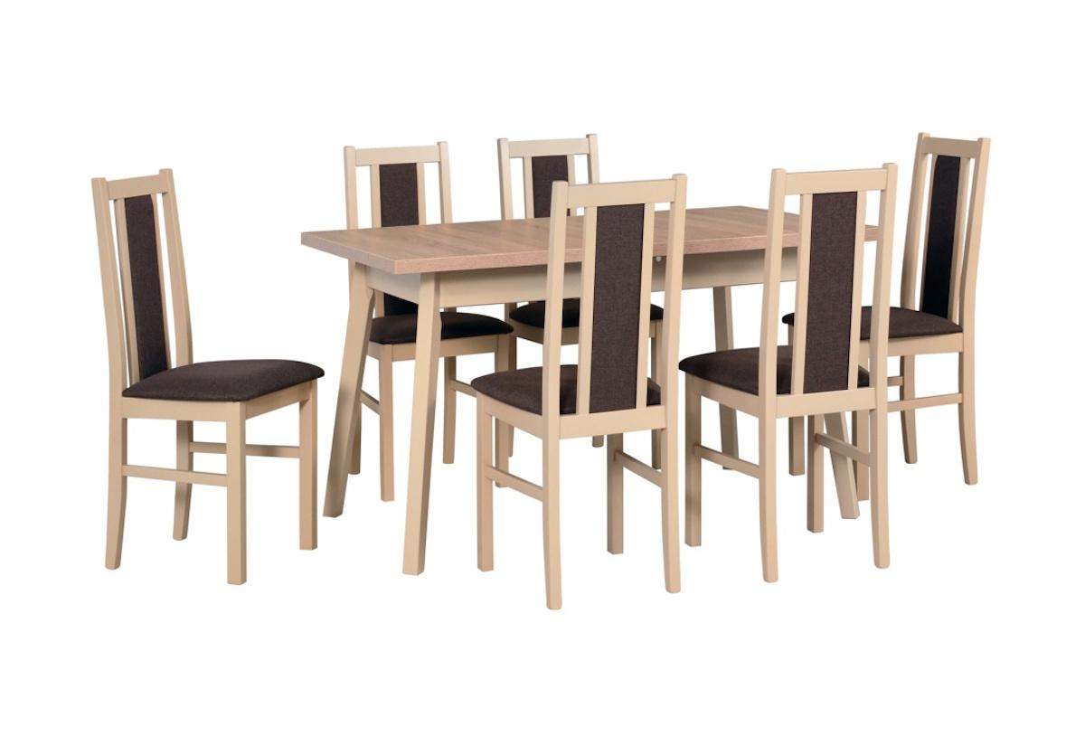 Jídelní sestava BERGEN 5, stůl + 4x židle