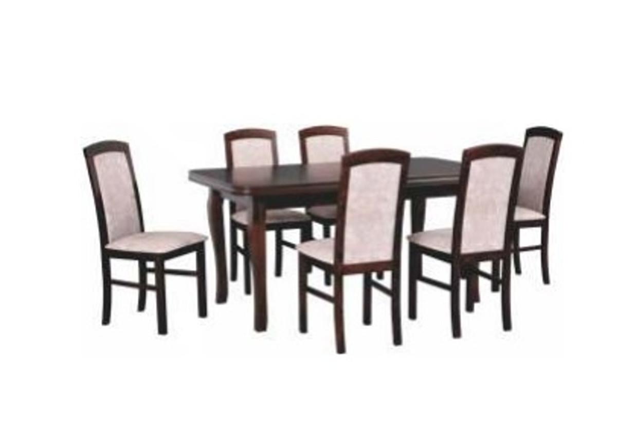 Jídelní sestava BONAPARTE, stůl + 6x židle