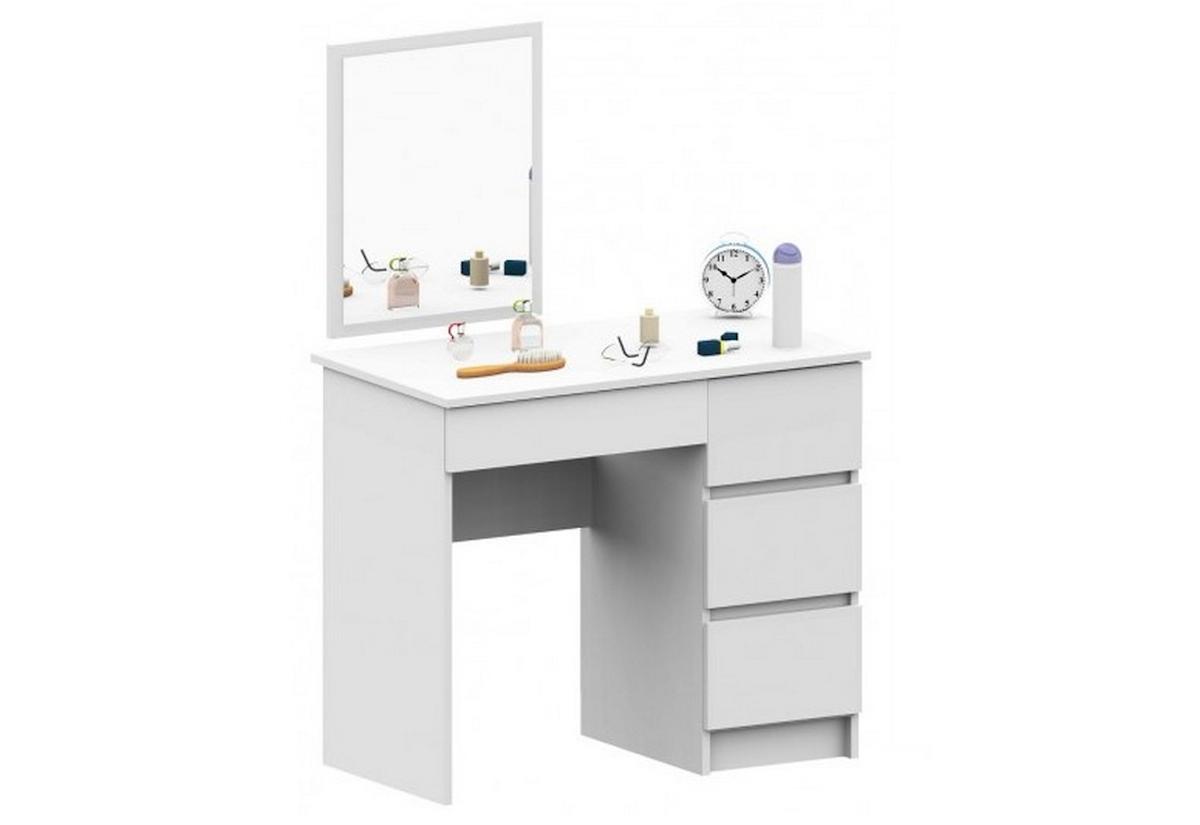 Toaletní stolek SPLIT T6, 90x72/142x50, 500x600, bílý, pravý