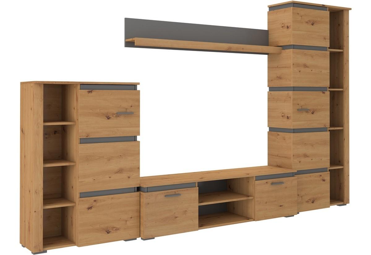 Obývací stěna CALEB, 304x190x40, artisan