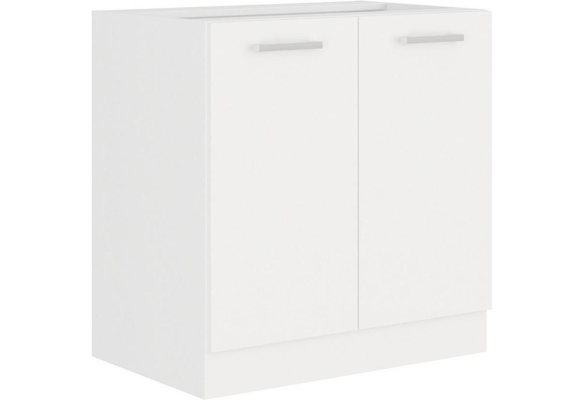 Kuchyňská skříňka dolní dvoudveřová s pracovní deskou ALBERTA 80D 2F, 80x82x52, bílá