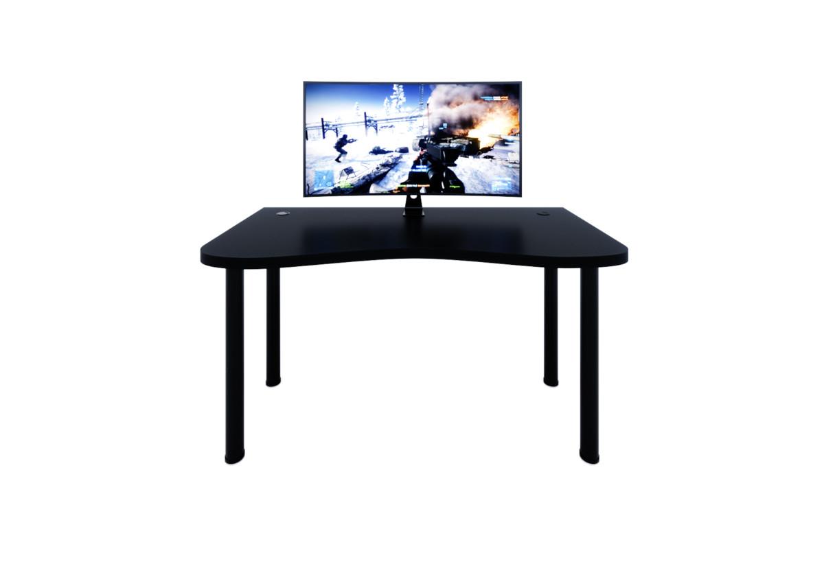 Počítačový herní stůl CODE Y1, 135x73-76x65, černá/černé nohy