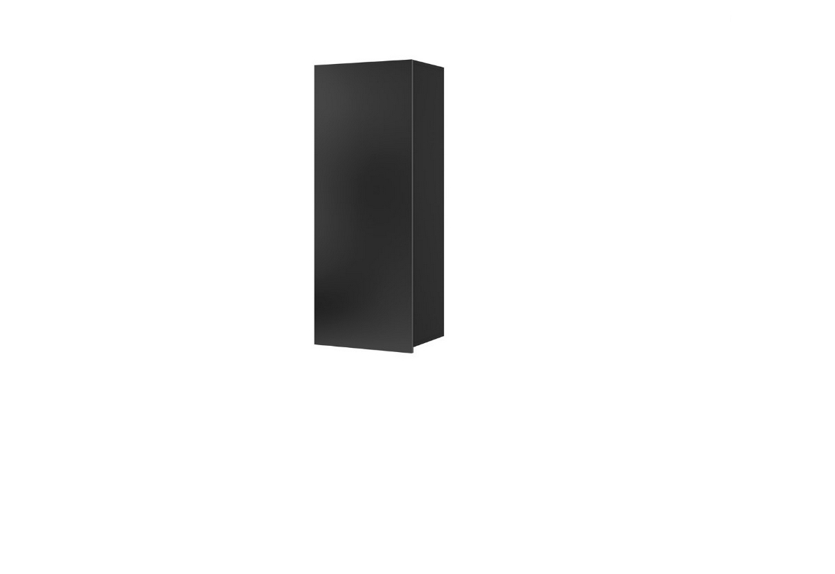 Závěsná skříňka BRINICA WISZ PION, 45x117x32, černá/černý lesk