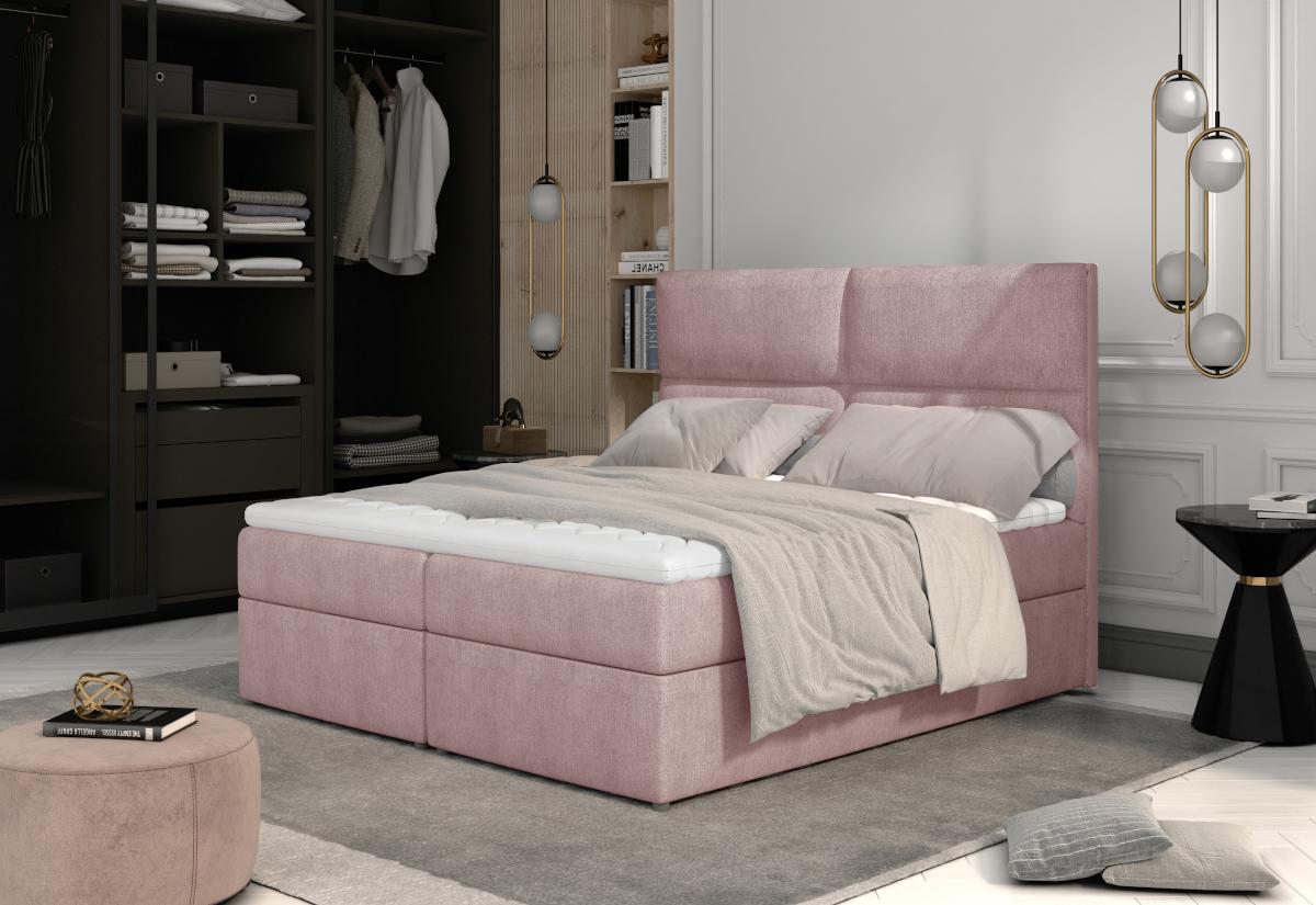 Čalouněná postel boxspring JOYA, 160x200, omega 91 + doprava ZDARMA