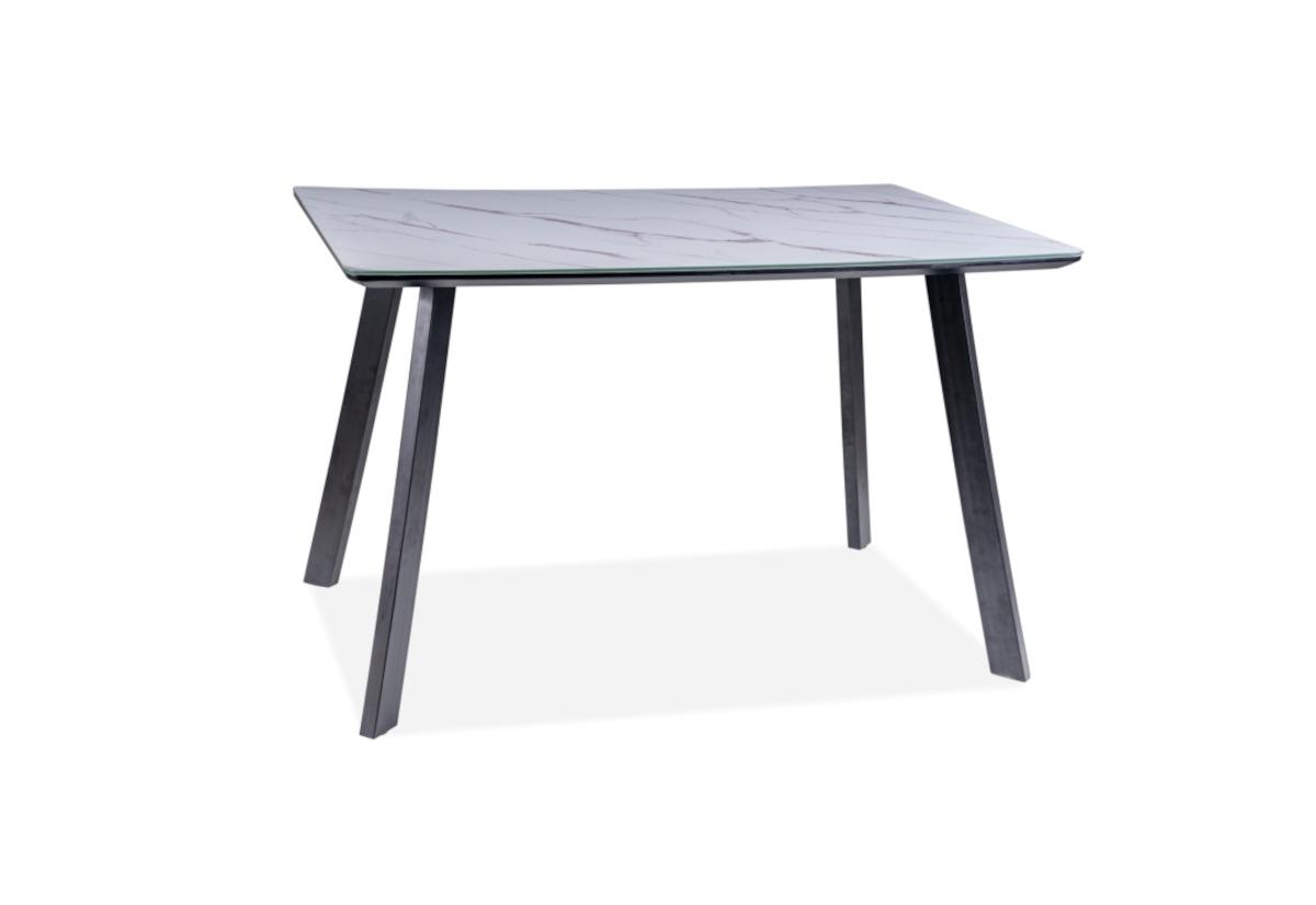 Jídelní stůl SOLON, 120x75x80, mramor/černá