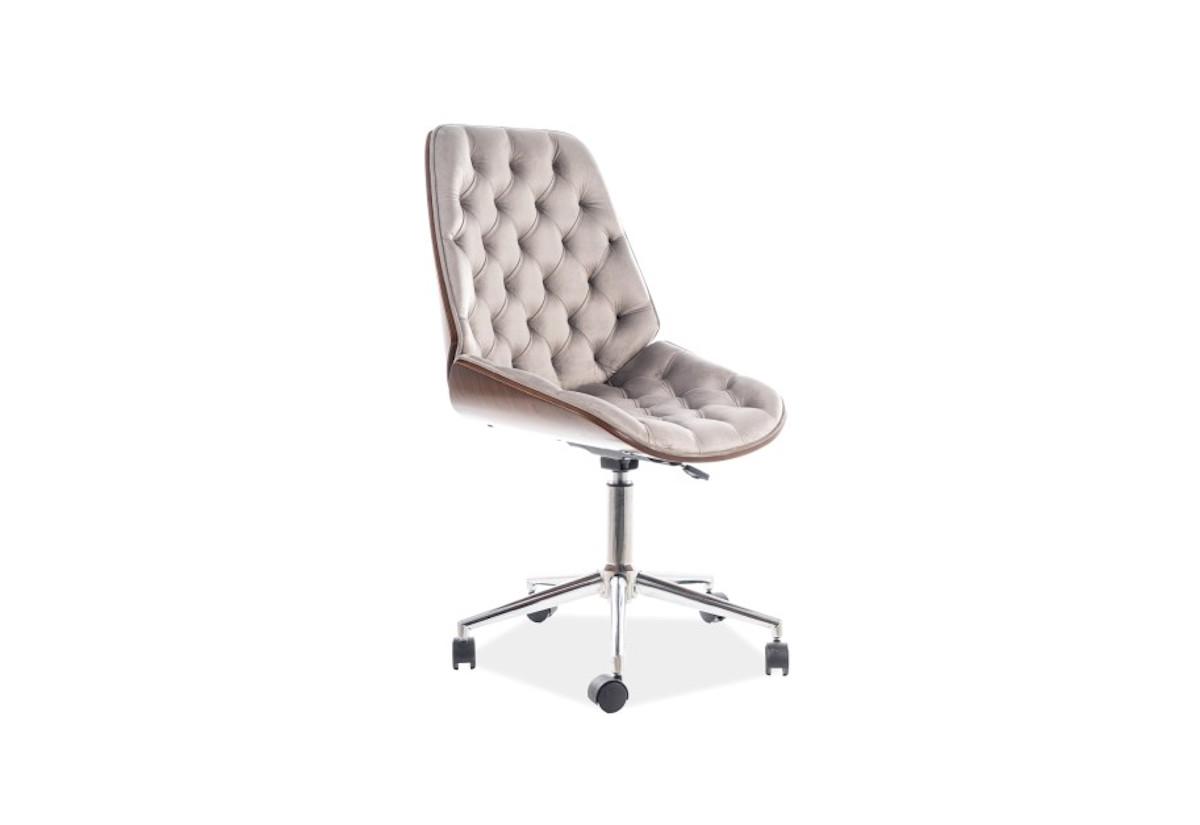Kancelářská židle UTAH Velvet, 55x94x44, šedá
