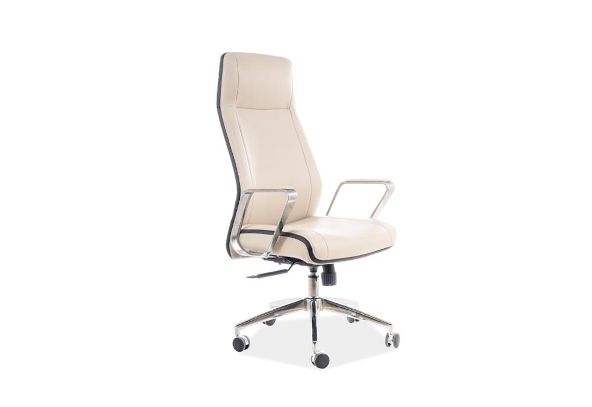 Kancelářská židle MERIDA Q-321, 62x118x50, béžová/černá
