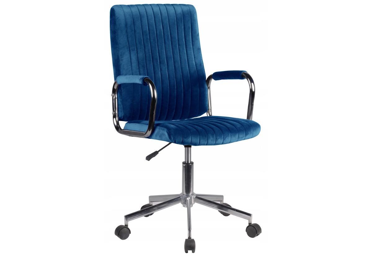 Kancelářská židle KORAD FD-24, 51x92-102x61, modrá