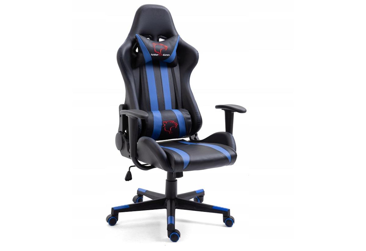 Kancelářská židle KORAD FG-33, 71x125-135x70, modrá/černá