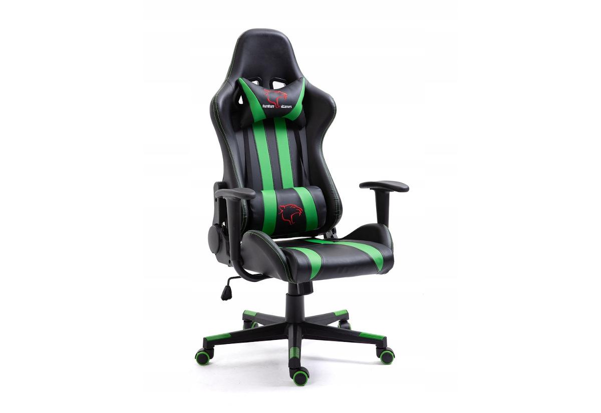 Kancelářská židle KORAD FG-33, 71x125-135x70, zelená/černá