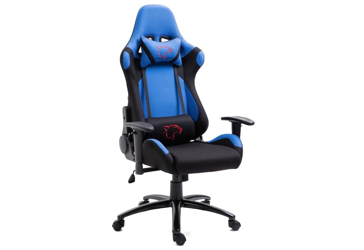 Kancelářská židle KORAD FG-38, 67,5x128-138x70, modrá/černá