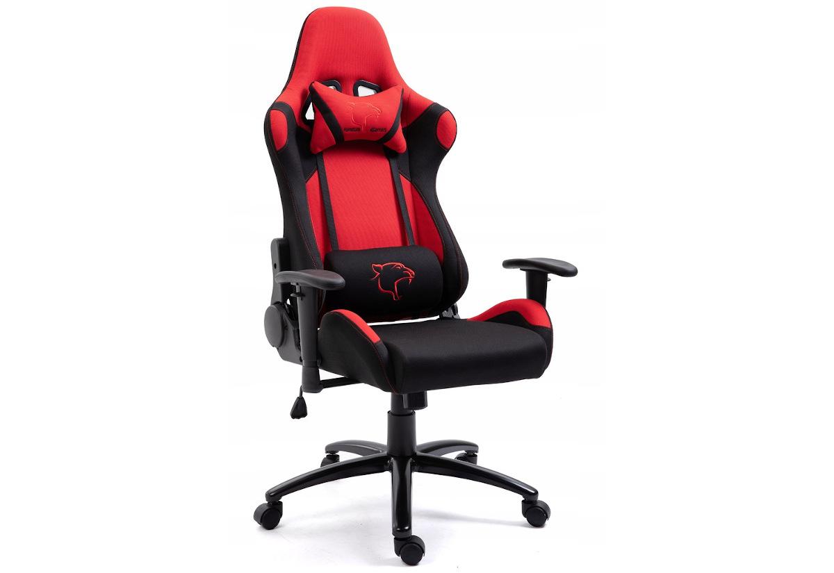 Kancelářská židle KORAD FG-38, 67,5x128-138x70, červená/černá