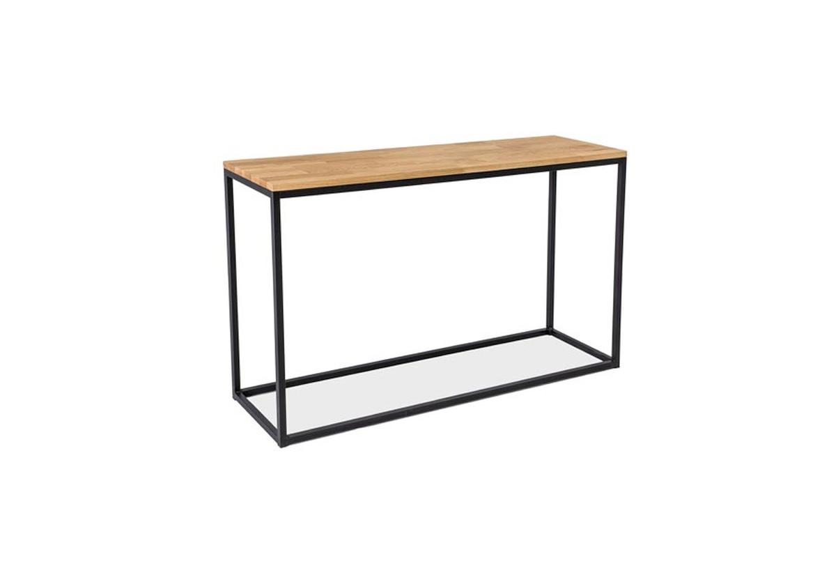 Konzolový stolek RASOL K, 120x73x36, dub/černá
