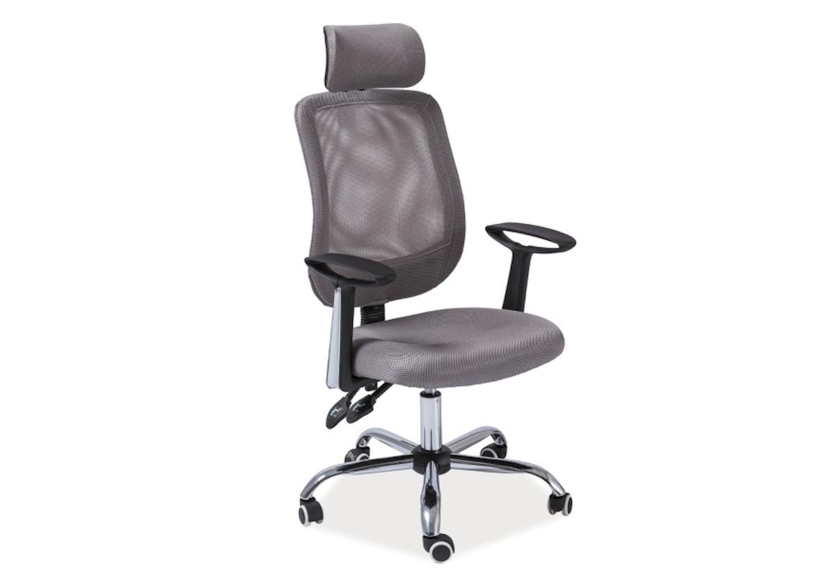 Kancelářská židle BELO Q-118, 60x115-125x50, šedá