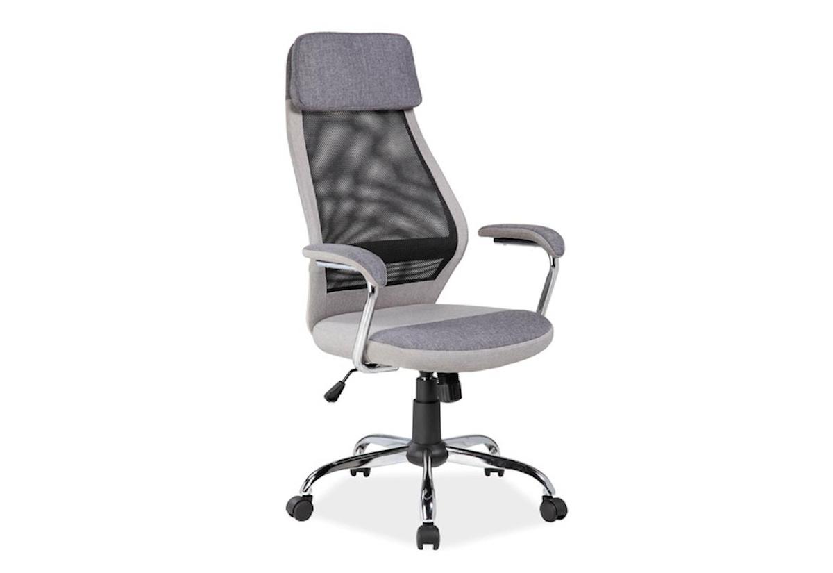 Kancelářská židle LEA Q-336, 65x117-127x50, šedá