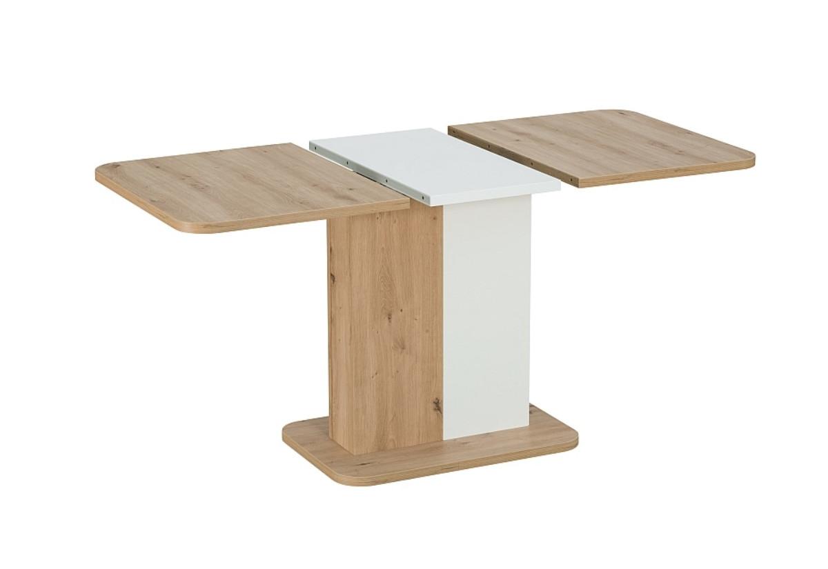 Expedo Rozkládací jídelní stůl BACK, 110-145x75x68, dub artisan/bílá